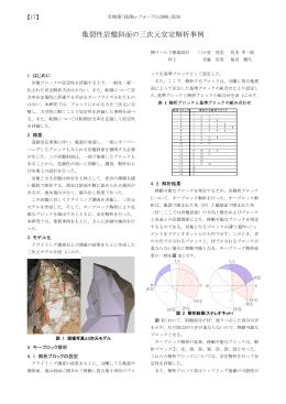 亀裂性岩盤斜面の三次元安定解析事例