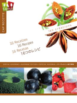 16 Recettes 16 Recipes 16 Recetas 16つのレシピ