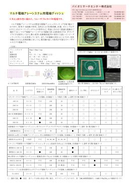 マルチ電極アレーシステム用電極ディッシュ - Multi Channel Systems