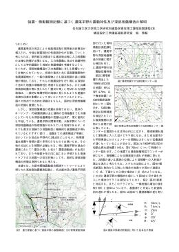 強震・微動観測記録に基づく濃尾平野の震動特性及び深部地盤構造の解明