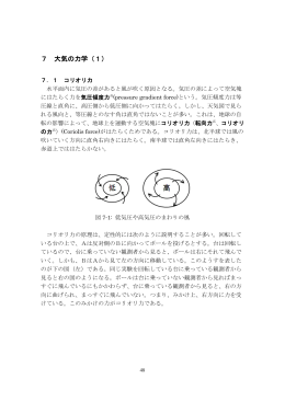7 大気の力学(1)