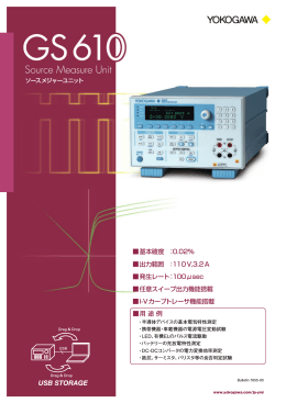 Bulletin 7655-00 GS610 ソースメジャーユニット