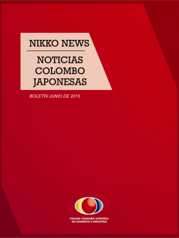 NIKKO NEWS NOTICIAS COLOMBO JAPONESAS