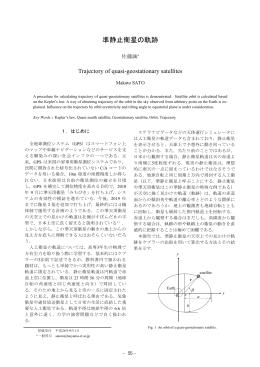 準静止衛星の軌跡