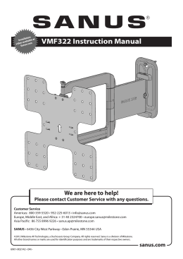VMF322 Instruction Manual