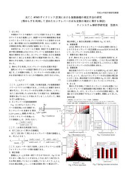 光てこ AFM のダイナミック計測における振動振幅の補正手法の研究 (熱