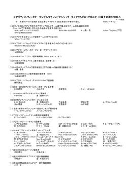 <アジアパシフィックオープンゴルフチャンピオンシップ ダイヤモンドカップ