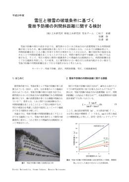雪圧と積雪の破壊条件に基づく 雪崩予防柵の列間斜