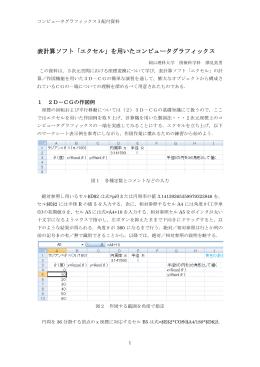 表計算ソフト「エクセル」を用いたコンピュータグラフィックス