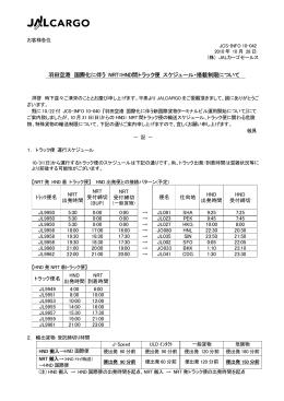羽田空港 国際化に伴う NRT=HND間トラック便