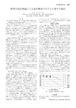 標準正則化理論による面再構成のモデルに関する検討