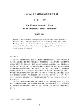 ニュルンベルク国際軍事法廷憲章批判=La Kritiko kontraŭ