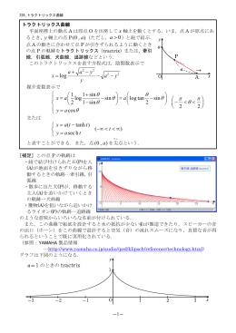 226 トラクトリックス曲線(追跡線)