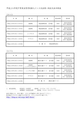 平成26年度千葉県高等学校新人テニス大会第一地区大会