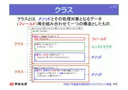 クラス - プログラミング言語
