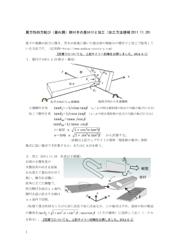 異方性四方転び(振れ隅)胴付きの墨付けと加工(加工方法増補 2011.11