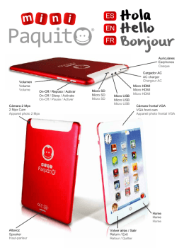 67736 Paquito Mini Quick Guide_ES EN FR_v6