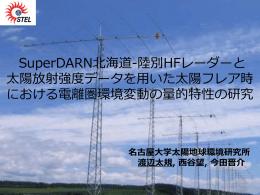 陸別HFレーダーを用いた太陽フレアによる電離圏環境変動