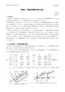 傾斜支持節点の処理