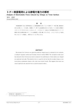 トナー表面電荷による静電付着力の解析 | Ricoh Technical Report No.37