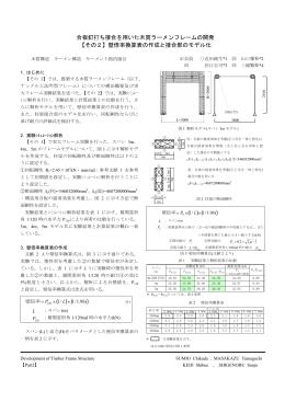 合板釘打ち接合を用いた木質ラーメンフレームの開発 【その2】壁倍率