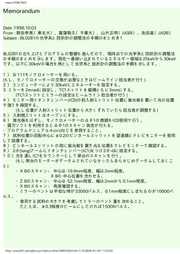 回折計の調整法の手順のまとめ#1