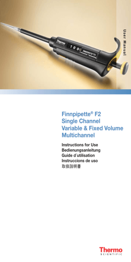 Finnpipette F2 Single Channel Variable and Fixed