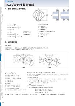 RSスプロケット技術資料