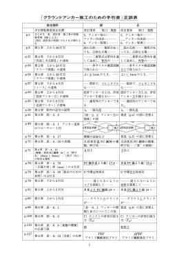 「グラウンドアンカー施工のための手引書」正誤表