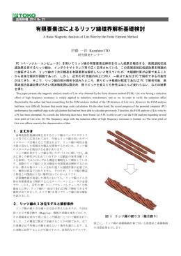 有限要素法によるリッツ線磁界解析基礎検討