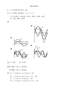 宿題の解答例 8・1 非正弦波交流の発生・成分 1 (1)非直線,磁気飽和