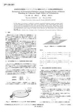 2P1-56-081 未知形状対象物をハンドリングする複数の