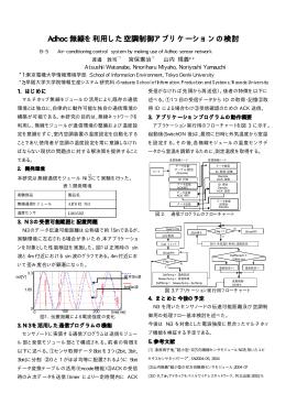 Adhoc 無線を利用した空調制御アプリケーションの検討