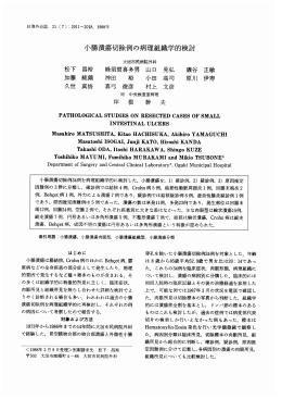 小腸潰瘍切除例の病理組織学的検討