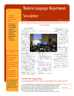 Modern Language Department Newsletter