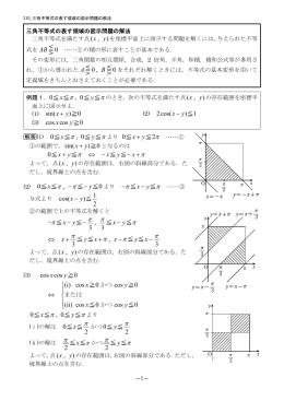 310 三角不等式の表す領域の図示問題の解法