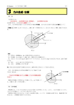 3. 力の合成・分解