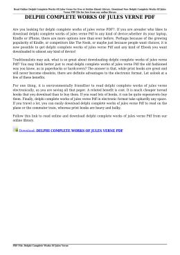 DELPHI COMPLETE WORKS OF JULES VERNE PDF