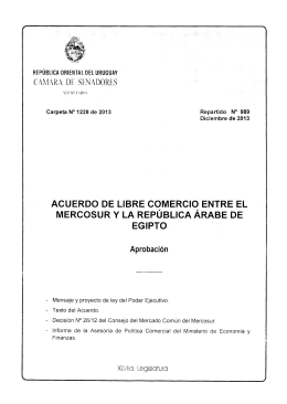 MERCOSUR Y LA REPUBLiCA ARABE DE