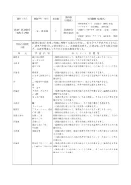 雄山高校シラバス 必履修科目PDF