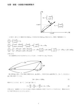 力学基礎~速度と加速度の極座標表示