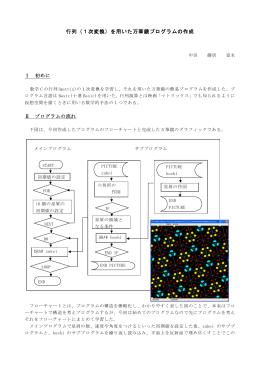 行列(1次変換)を用いた万華鏡プログラムの作成