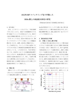反応性 RF スパッタリング法で作製した SiOx 膜上の液晶配向特性の研究