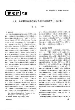 大気~地表相互作用に関する 日中共同研究 (HEーFE)*