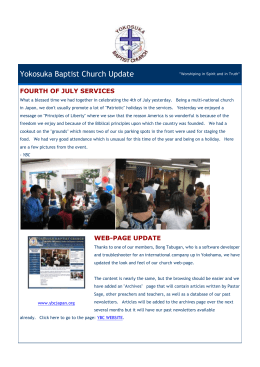 Yokosuka Baptist Church Update