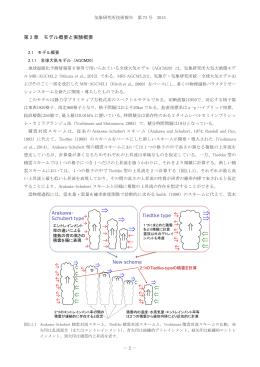 第 2 章 モデル概要と実験概要