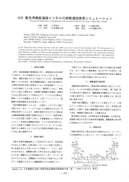 ーー27 東京湾横断道路トンネルの避難通路換気シミュレーショ ン