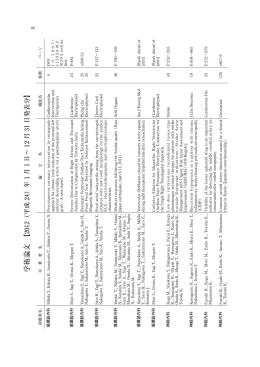 学術論文 【2012(平成