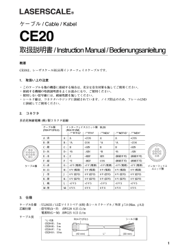取扱説明書 / Instruction Manual / Bedienungsanleitung