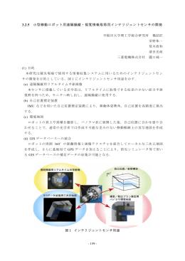 3.2.5 小型移動ロボット用遠隔操縦・視覚情報取得用インテリジェント